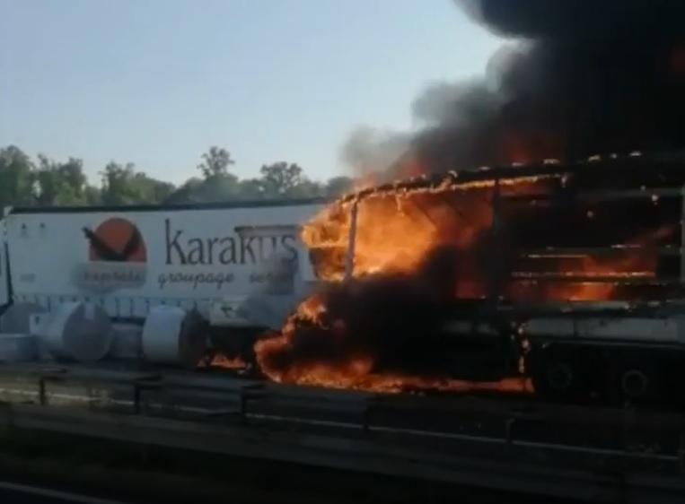 požar hrvaška avtocesta
