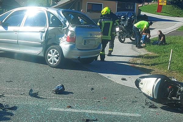 prometna nesreča motorist avtomobil