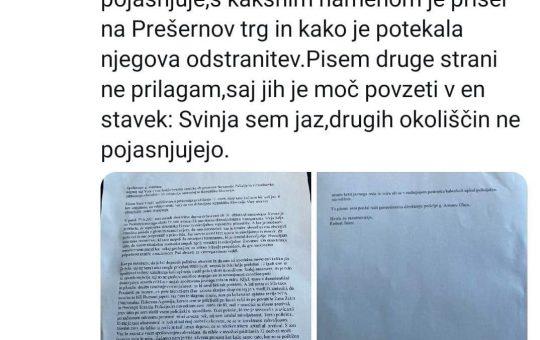 pismo minister aleš hojs