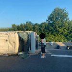 Na avtocesti blizu Šempetra prometna nesreča