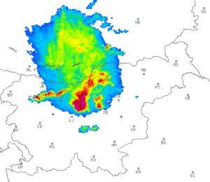 Radarska slika arso toča