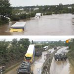 Video: Poglejte, koliko škode je povzročil poplavni val na avtocesti!